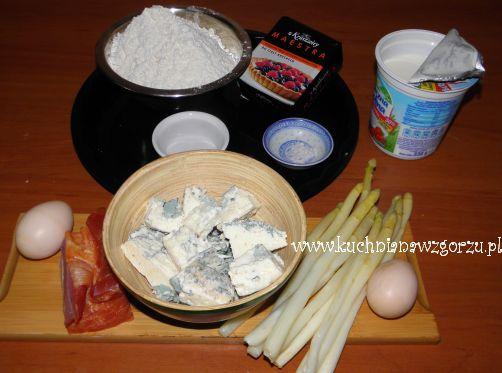 składniki do tarty