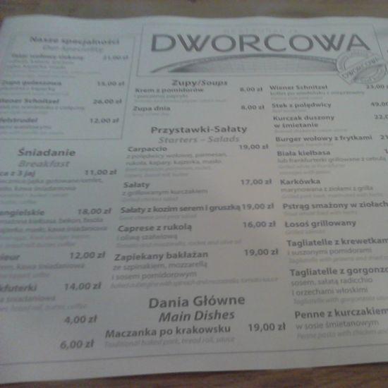 Restauracja Dworcowa Kraków