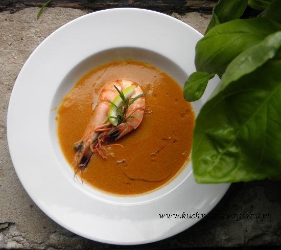 zupa z ryb i krewetek