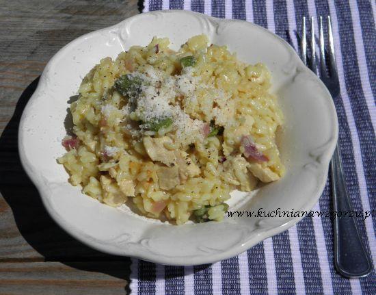risotto z kurczakiem i bobem