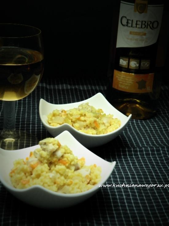 Kaszotto z białym winem