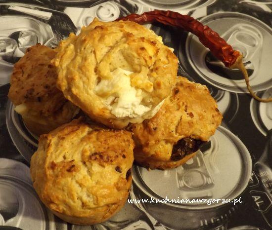 muffiny z fetą i suszonymi pomidorami