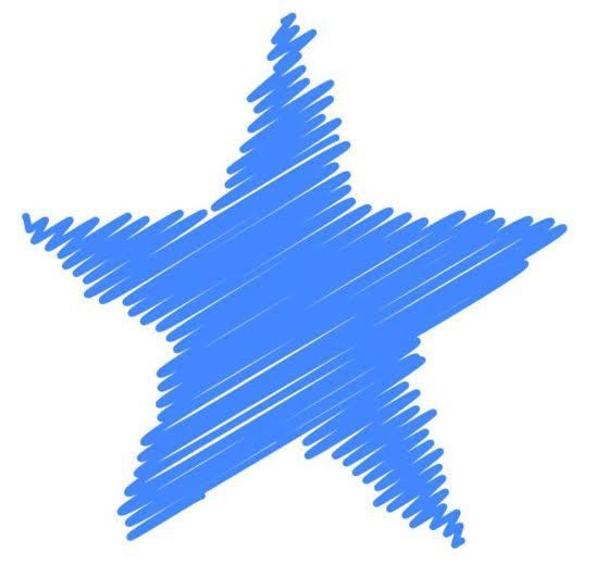 niebieska gwiazdka
