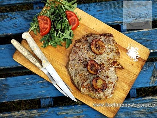 stek z musztardą