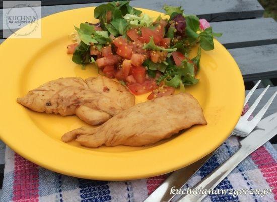 pierś z kurczaka z syropem klonowym, lunch do pracy
