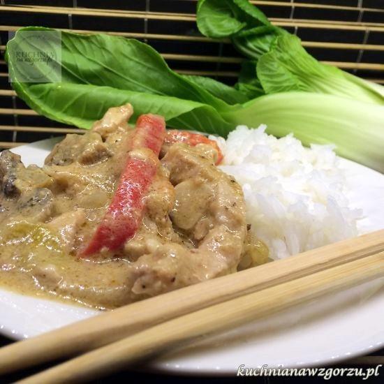 schab w sosie orzechowym, chińskie danie, lunch do pracy