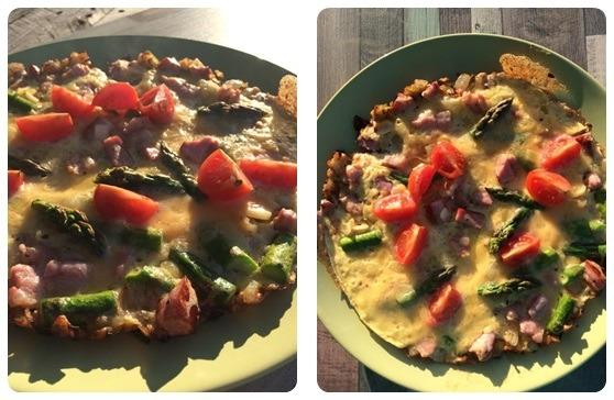 omlet szparagi